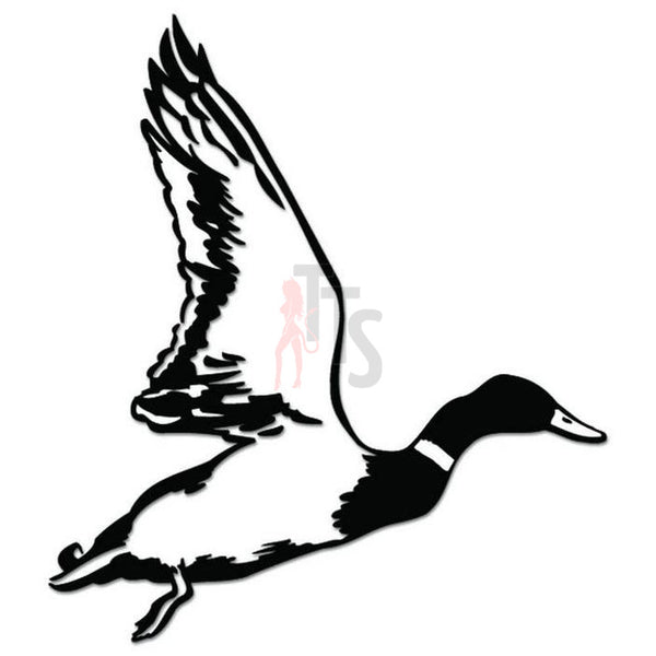Flying Duck Decal Sticker Style 2