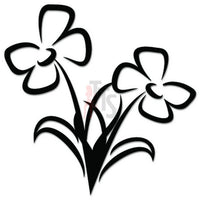 Flower Plant Decal Sticker Style 3