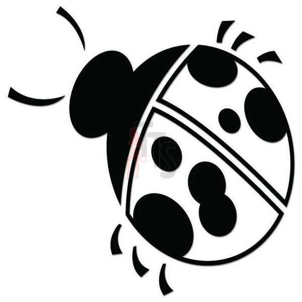 Ladybug Insect Decal Sticker Style 6