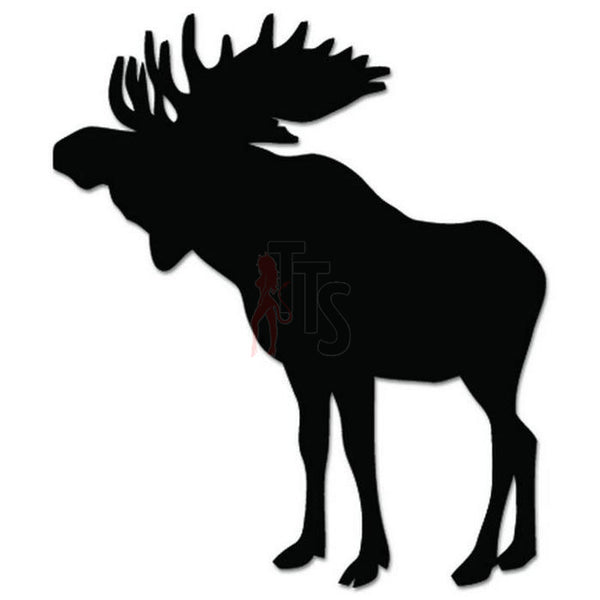 Moose Animal Decal Sticker Style 5