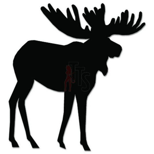 Moose Animal Decal Sticker Style 7