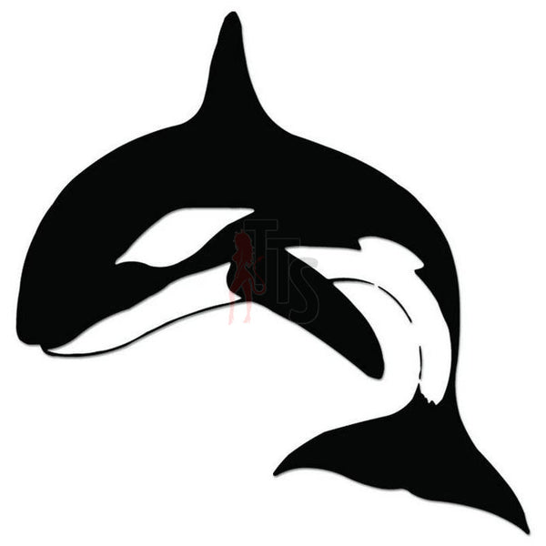Orca Whale Fish Decal Sticker Style 3
