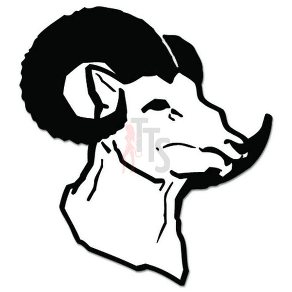 Ram Head Animal Decal Sticker Style 3