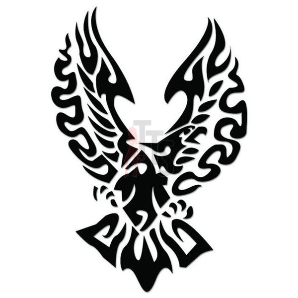 Eagle Bird Tribal Art Decal Sticker Style 3