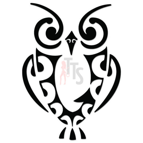 Owl Bird Tribal Art Decal Sticker Style 10