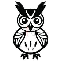 Owl Bird Tribal Art Decal Sticker Style 11