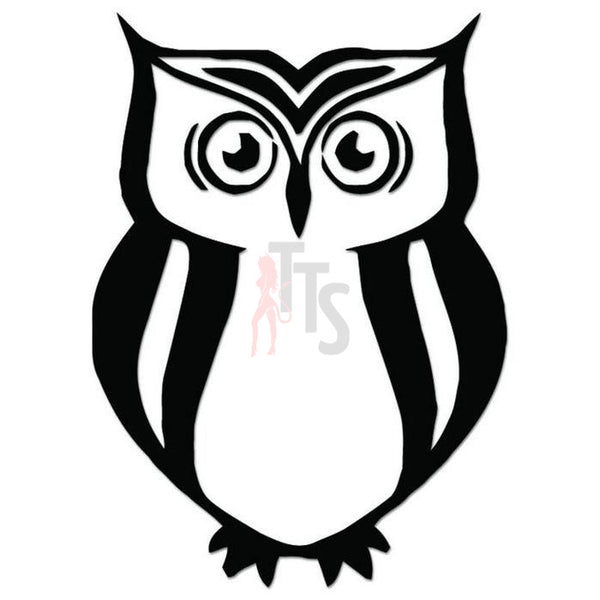 Owl Bird Tribal Art Decal Sticker Style 12