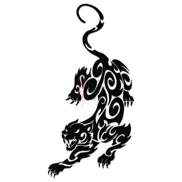 Panther Cat Tribal Art Decal Sticker Style 1