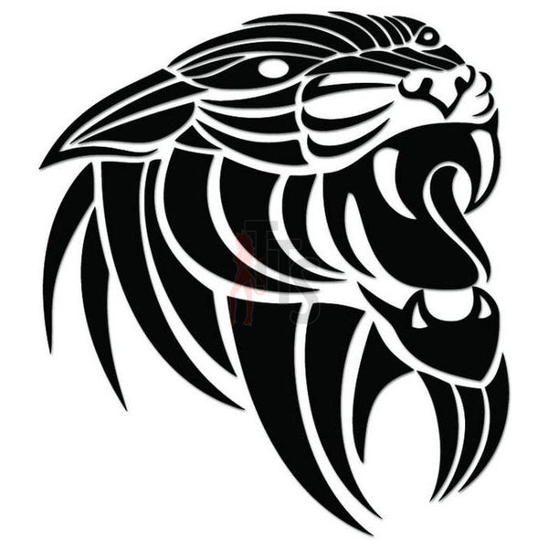 Panther Cat Tribal Art Decal Sticker Style 2