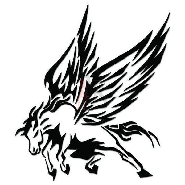 Pegasus Horse Tribal Art Decal Sticker Style 2