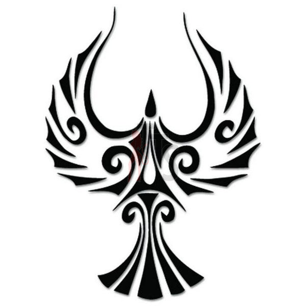 Phoenix Bird Tribal Art Decal Sticker Style 4