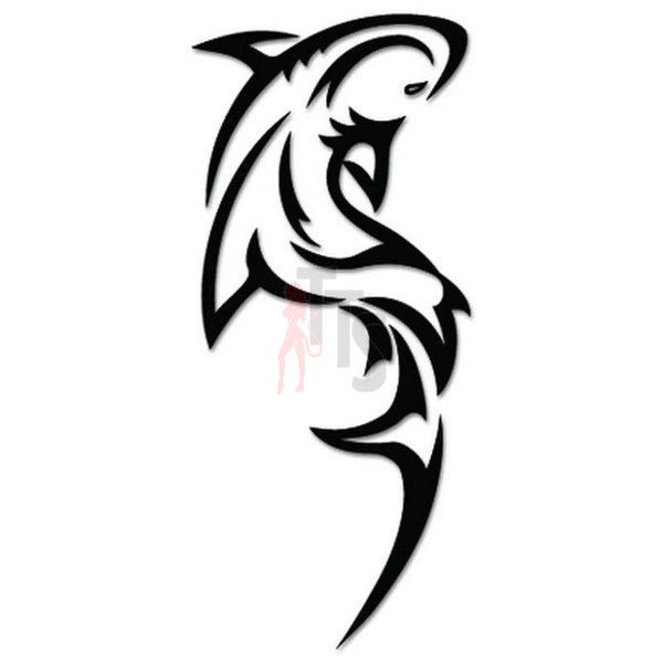 Shark Fish Tribal Art Decal Sticker Style 4