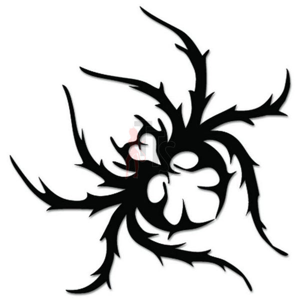 Spider Poison Tribal Art Decal Sticker