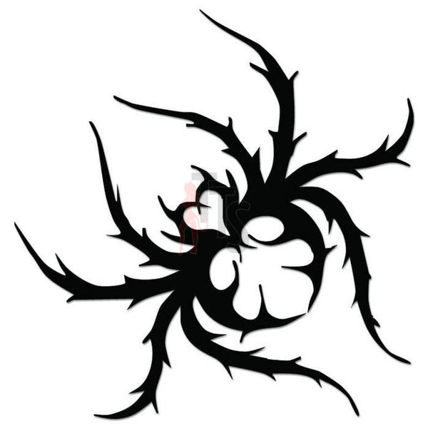 Spider Poison Tribal Art Decal Sticker Style 6