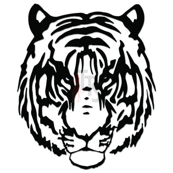 Tiger Tribal Art Decal Sticker Style 1