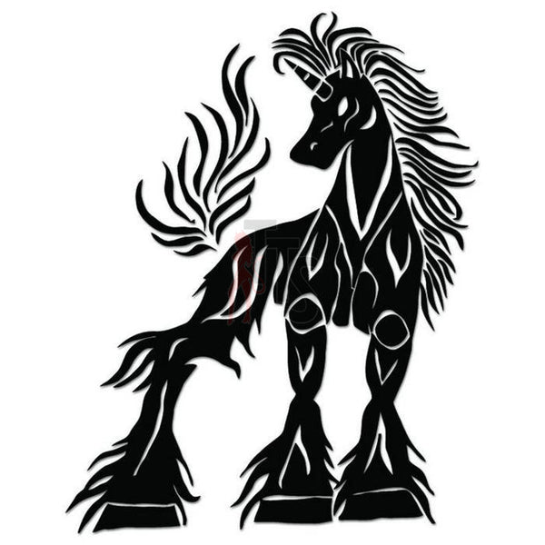 Unicorn Horse Tribal Art Decal Sticker Style 10