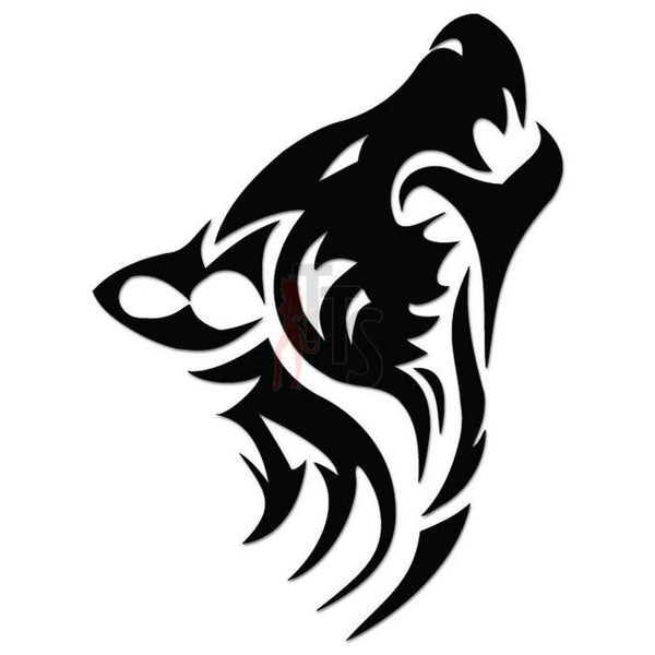 Wolf Tribal Art Decal Sticker Style 2