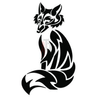 Wolf Tribal Art Decal Sticker Style 6