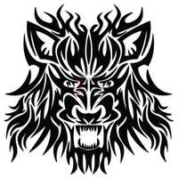 Wolf Tribal Art Decal Sticker Style 7