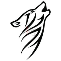 Wolf Tribal Art Decal Sticker Style 8