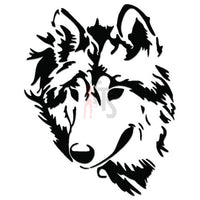 Wolf Animal Decal Sticker Style 4