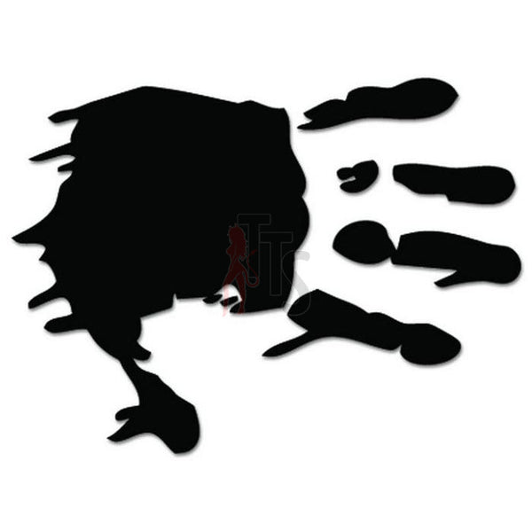 Zombie Bloody Handprint Decal Sticker