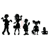 Zombies Family Dead Decal Sticker Style 1