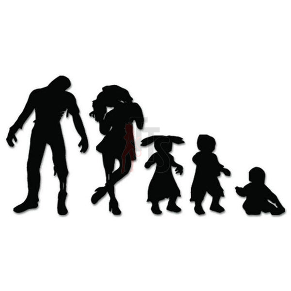 Zombies Family Dead Decal Sticker Style 2