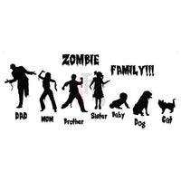 Zombies Family Dead Decal Sticker Style 3