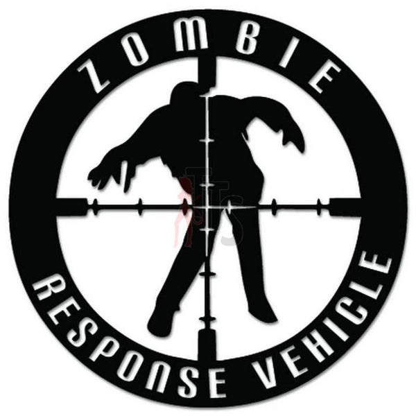 Zombies Response Vehicle Scope Crosshair Decal Sticker