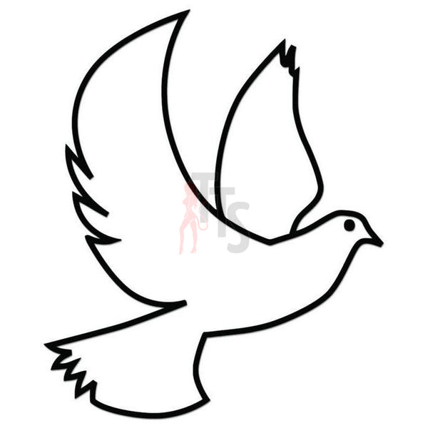 Dove Bird Peace Decal Sticker Style 6