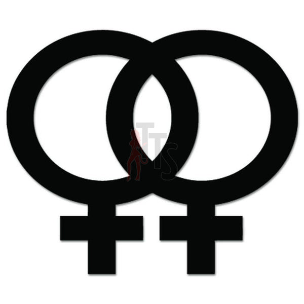 Gay Pride Female Sex Symbol Decal Sticker Style 1
