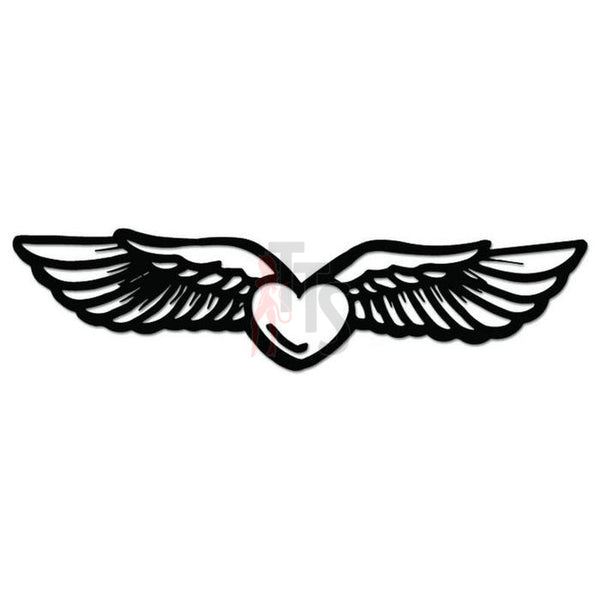 Heart Wings Decal Sticker