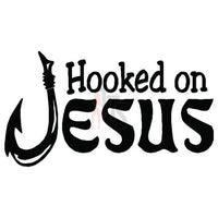 Hooked on Jesus Decal Sticker Style 2