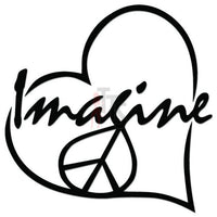 Imagine Peace Love Decal Sticker