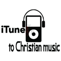 iTune Christian Music Decal Sticker