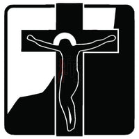 Jesus Cross Decal Sticker Style 1