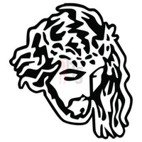 Jesus Face Decal Sticker Style 6