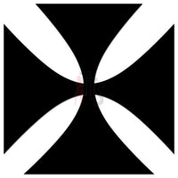 Maltese Cross Decal Sticker Style 3
