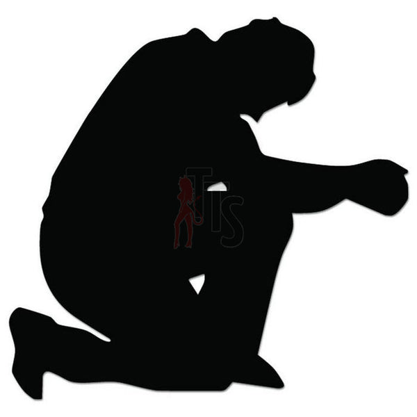 Man Praying Decal Sticker Style 1