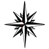 North Star Decal Sticker Style 1