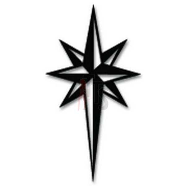 North Star Decal Sticker Style 2