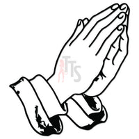 Praying Hands Decal Sticker Style 5