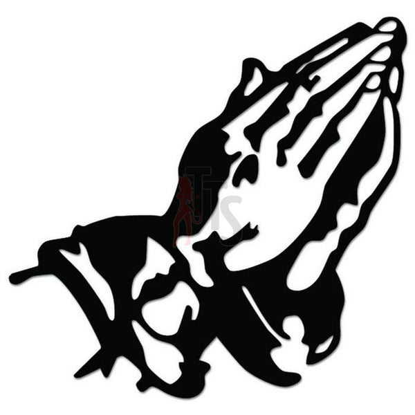 Praying Hands Decal Sticker Style 2