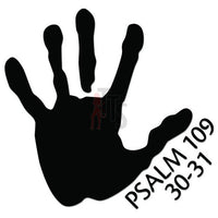 Psalm 109 30-31 Bible Decal Sticker