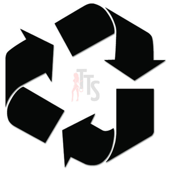 Recycle Sign Symbol Decal Sticker