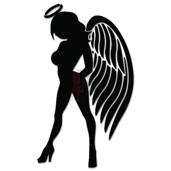 Sexy Angel Girl Decal Sticker Style 2