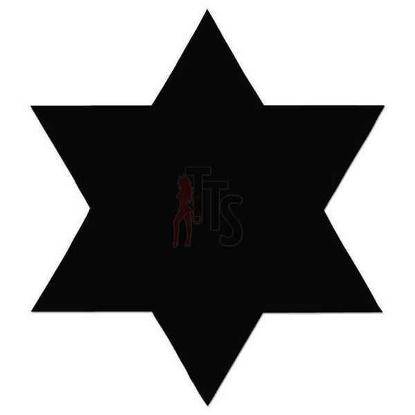 Star of David Decal Sticker Style 1