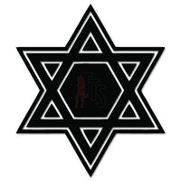 Star of David Decal Sticker Style 2