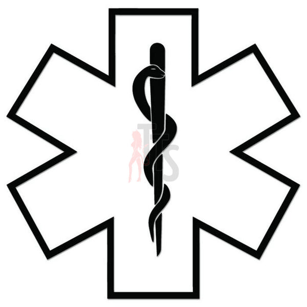 Star of Life Medical Decal Sticker